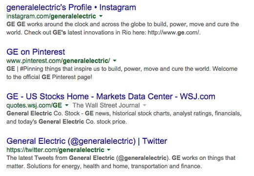 General Electric Stock Quote Ge Social Search Results  Internet Marketing  Pinterest  Seo