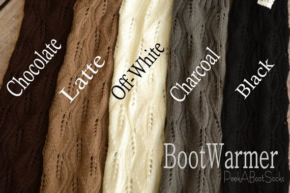 Lacey Boot Sock  You Choose color by PeekABootSocks on Etsy, $28.00