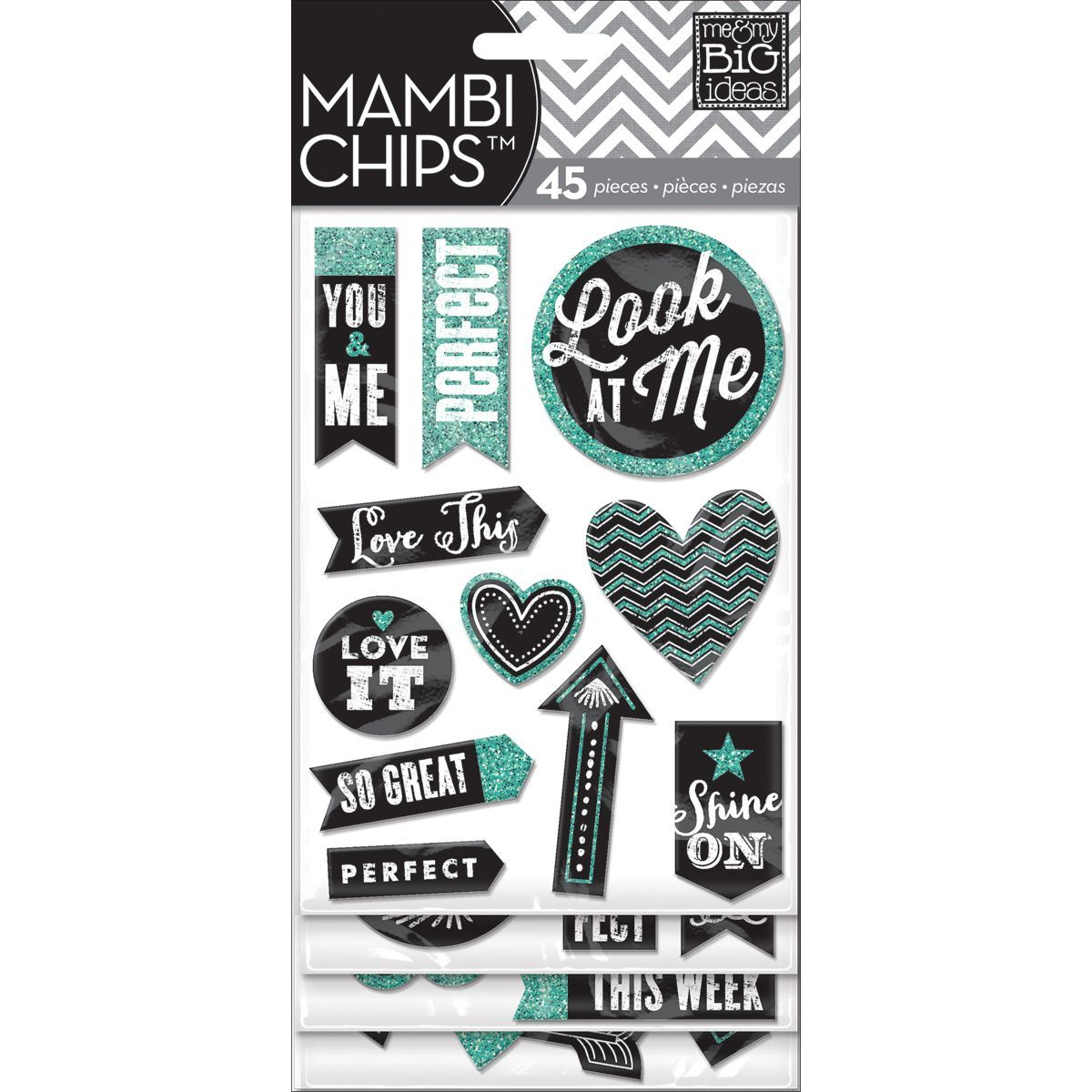 Chipboard Value Pack-Chalk - Look At Me