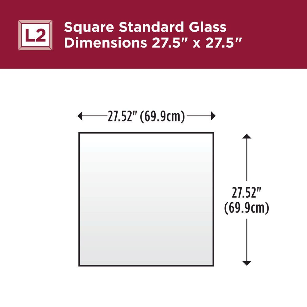 Delta Wall Mount 33 In X 33 In Large L2 Square Framed Flush Mounting Bathroom Mirror In Classic Chrome With Standard Glas Bathroom Mirror Square Frames Glass [ 1000 x 1000 Pixel ]