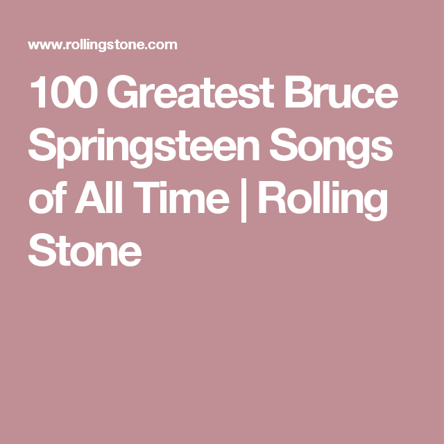 100 greatest bruce springsteen songs of all time - Bruce Springsteen Christmas Album