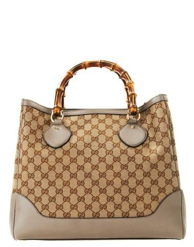 917bb9671a4 Taupe Sand Bamboo Bag by Gucci