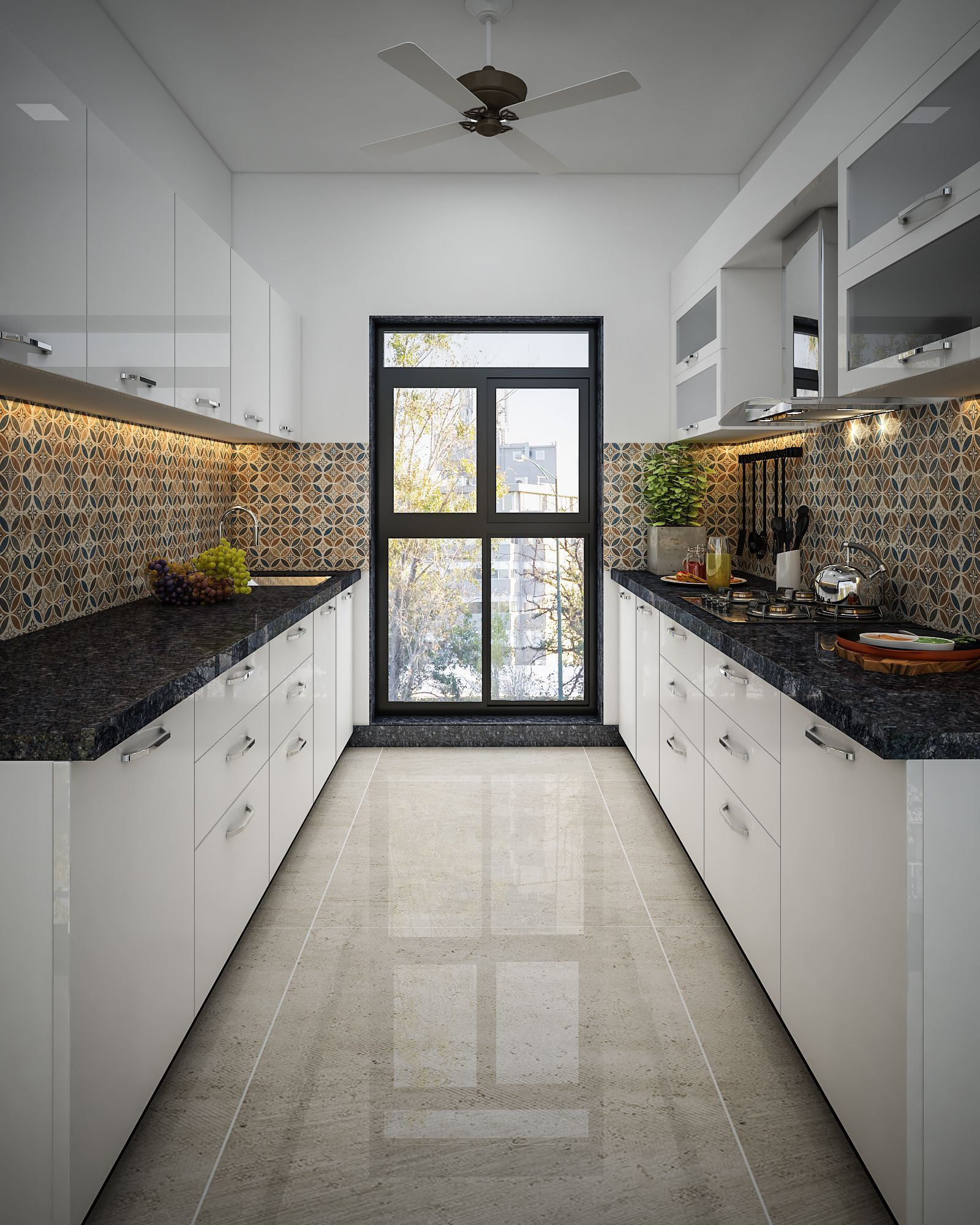 pure white kitchen filled with tranquility in 2020 kitchen design simple kitchen design on kitchen interior parallel id=73239