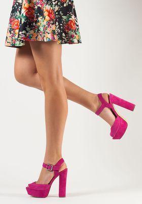 69d13623139e Steve Madden - Jillyy Platform Sandal Fuchsia Suede - Jildor Shoes ...
