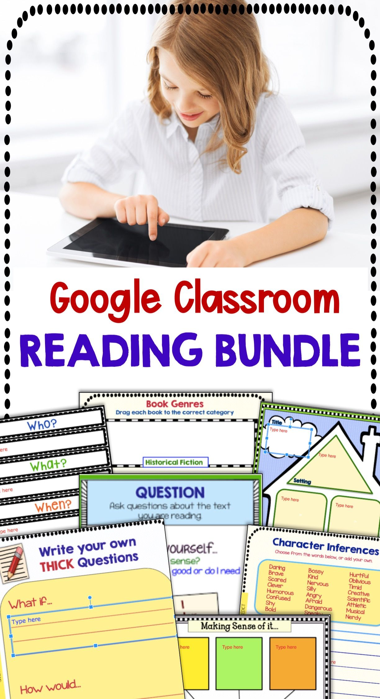 Classroom Distance Learning Reading Boom Cards