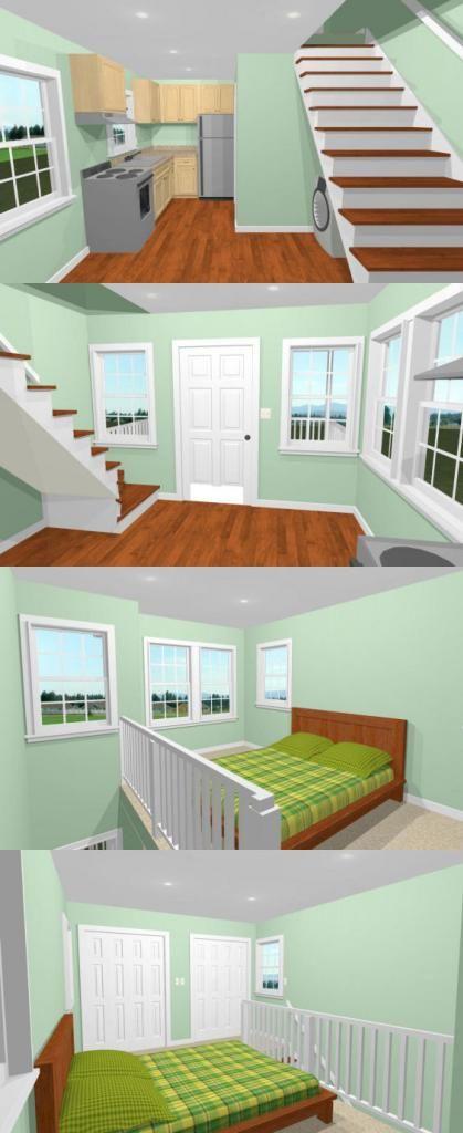 Best 12X16 Tiny House 12X16H6 367 Sq Ft Excellent 400 x 300