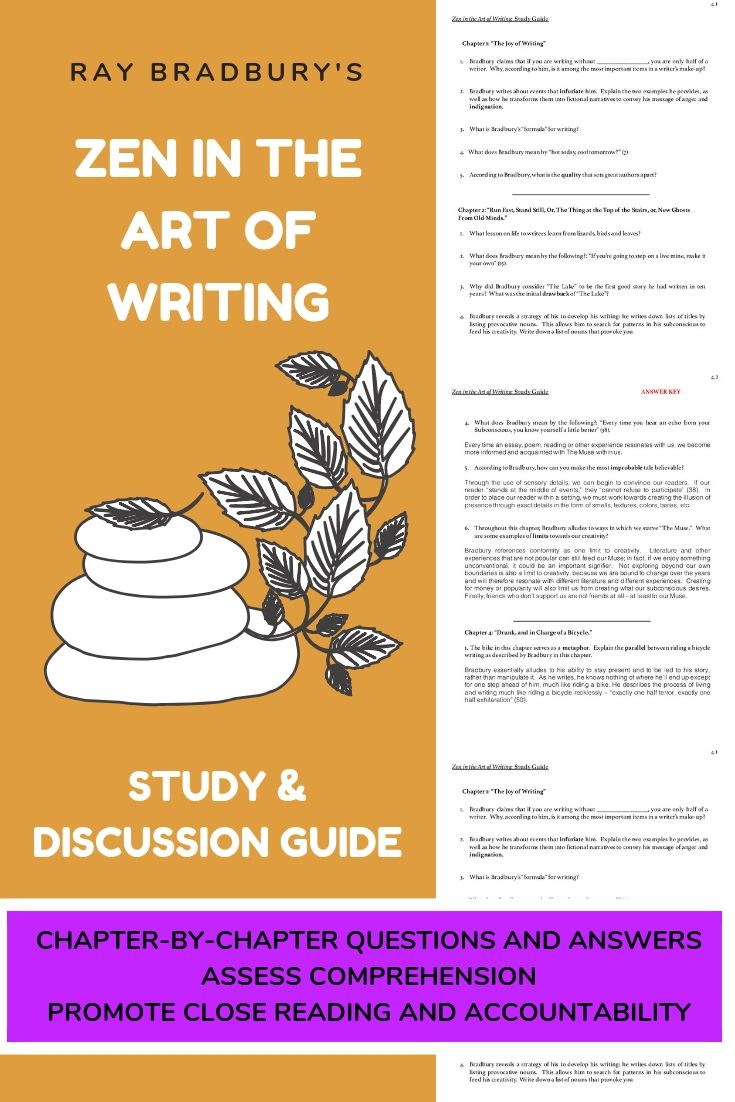 Zen in the Art of Writing Study, Discussion Guide, Chapter ...
