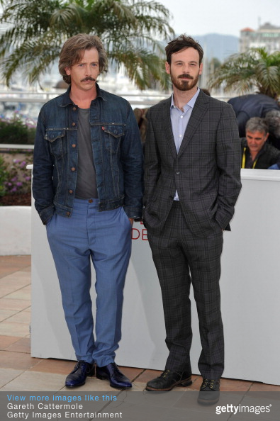 Ben Mendelsohn and Scoot McNairy pose at the KILLING THEM SOFTLY photocall during the 65th Annual Cannes Film Festival at Palais des Festivals on May 22, 2012 in Cannes, France.