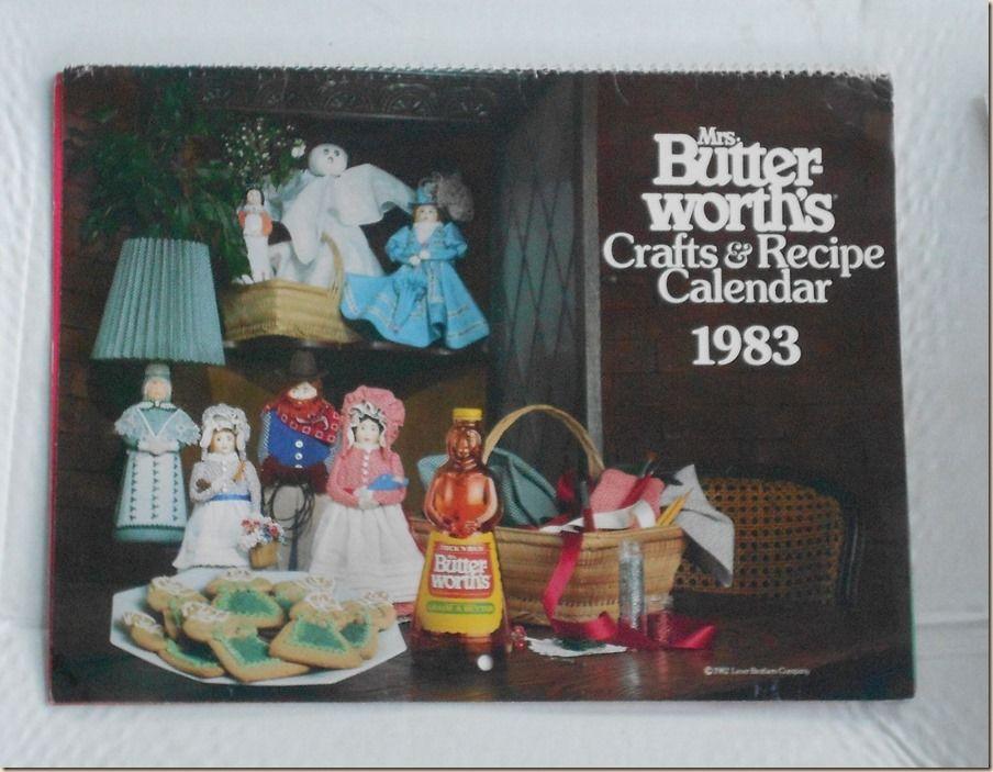 Crafts and Recipe Calendar