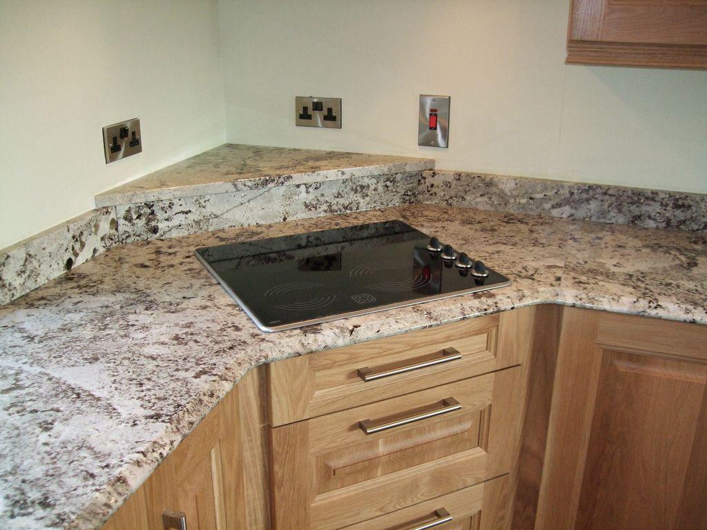 Delicatus Granite Corner Hob and Shelf