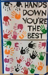 Many Teacher Appreciation Door Ideas Using Hands Or Helping Me Grow Theme Teacher Appreciation Doors Teacher Appreciation Poster Teacher Door Decorations