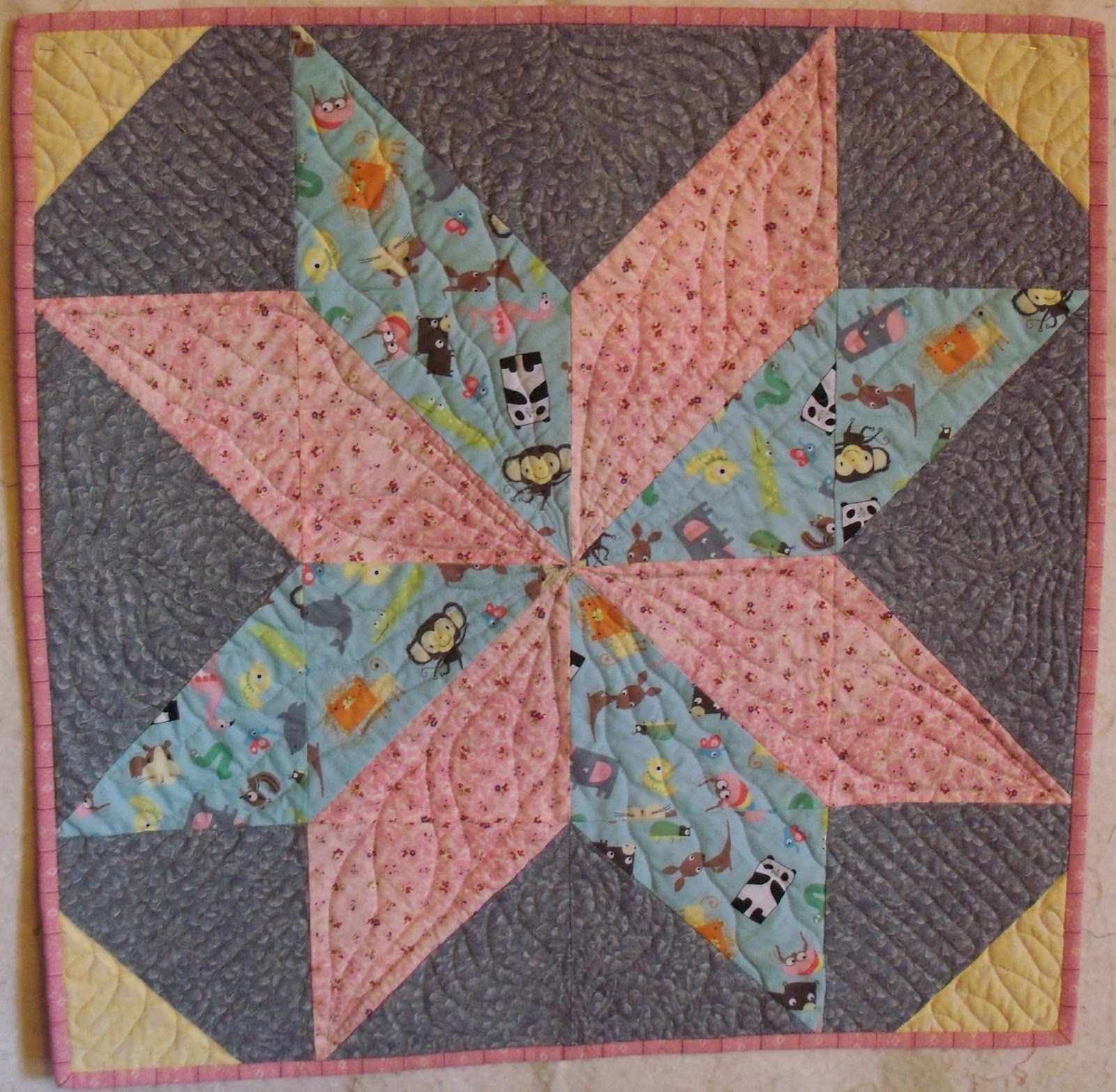 star quilts | Doll quilt was made as a sample of a quilt done by Missouri Star Quilt ...
