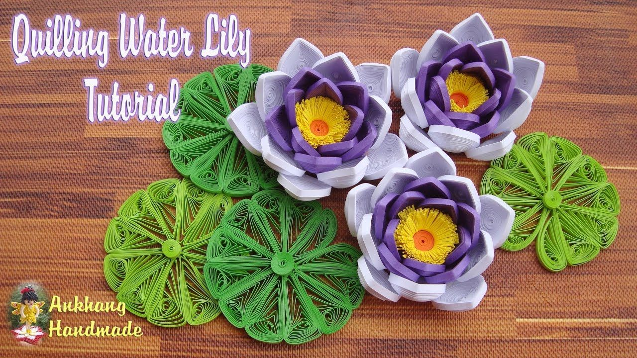 Quilling water lily flower tutorial diy paper water lily flower quilling water lily flower tutorial diy paper water lily flower tutorial mightylinksfo