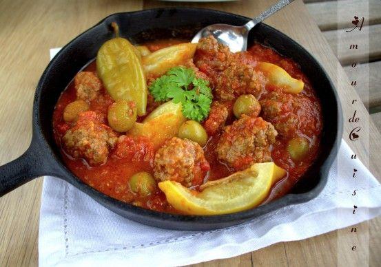 Tajine Boulettes De Viande Hachee Et Olives Kefta Be Zitoune Amour De Cuisine Recette Recettes De Cuisine Boulette De Viande Tajine