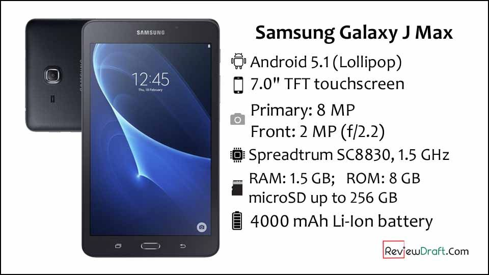 Samsung Galaxy J Max Price in Bangladesh, Full Specification