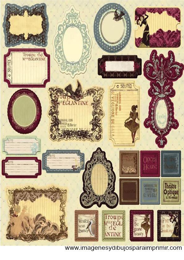 Etiquetas Vintage Para Imprimir Gratis Con Imagenes Etiquetas