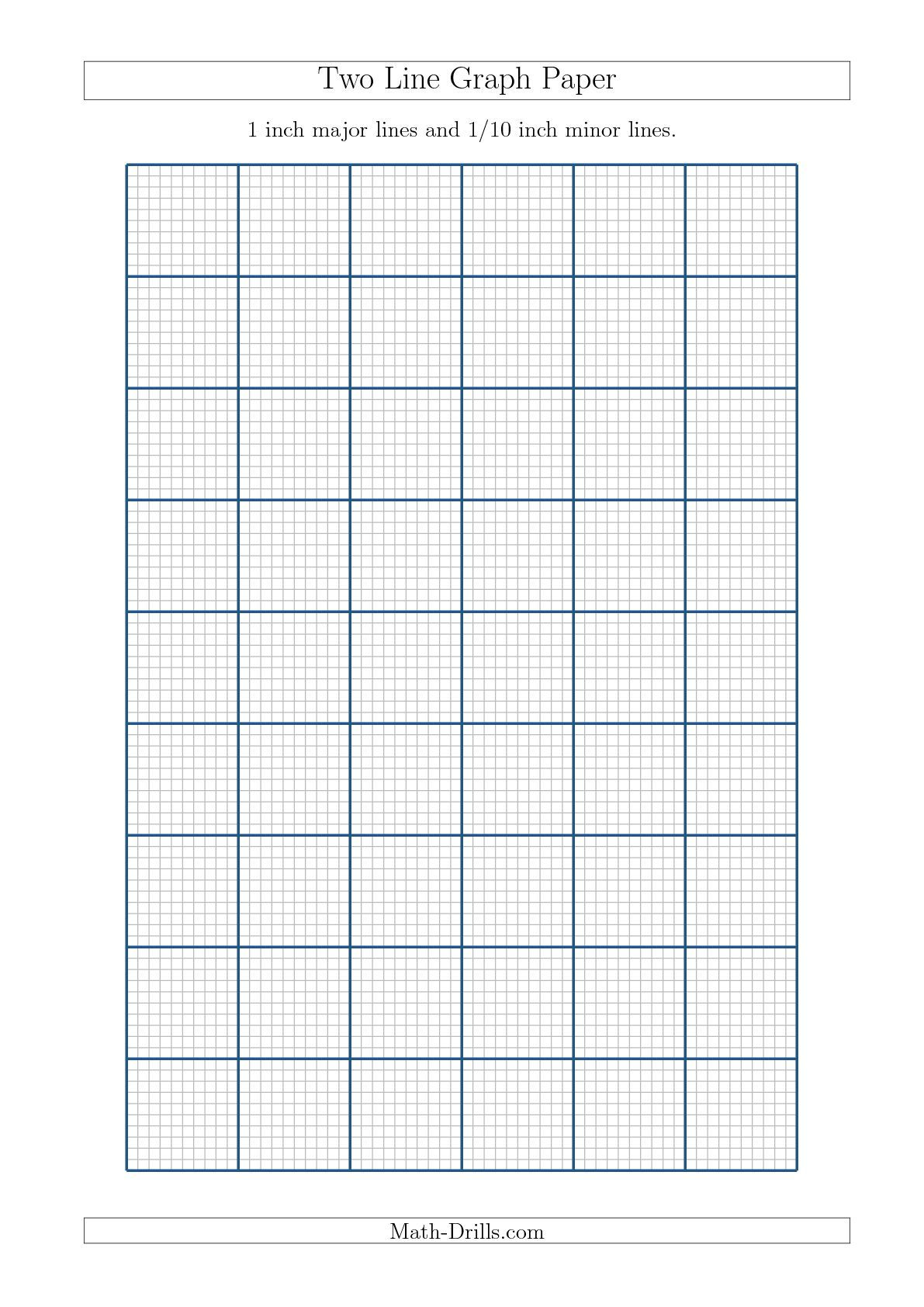 New A4 Sizes Added 09 18 Two Line Graph Paper With 1 Inch Major Lines And