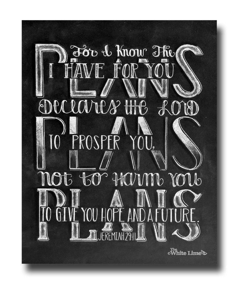 Jeremiah 29 11 Scripture Art Bible Verse Art by ...