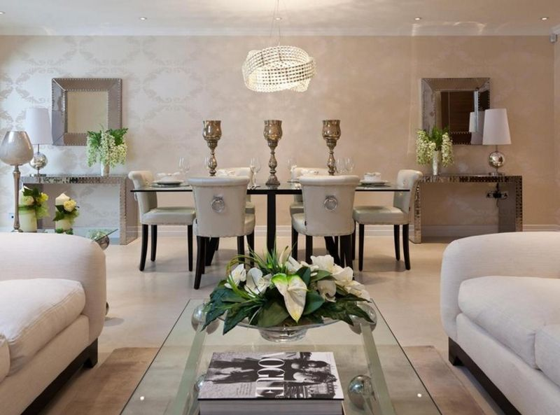 23 Stunning Crystal Chandeliers In The Living Room  Chandeliers Endearing Living Room Showcase Designs Images 2018