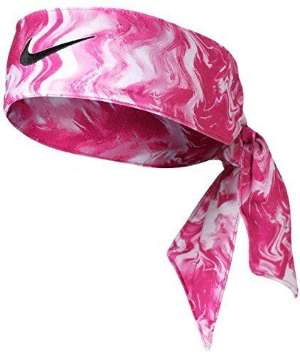 Newest Pink Nike Dri-Fit Head Tie 3.0 Black Swoosh Headband White SD ... 1694708d403