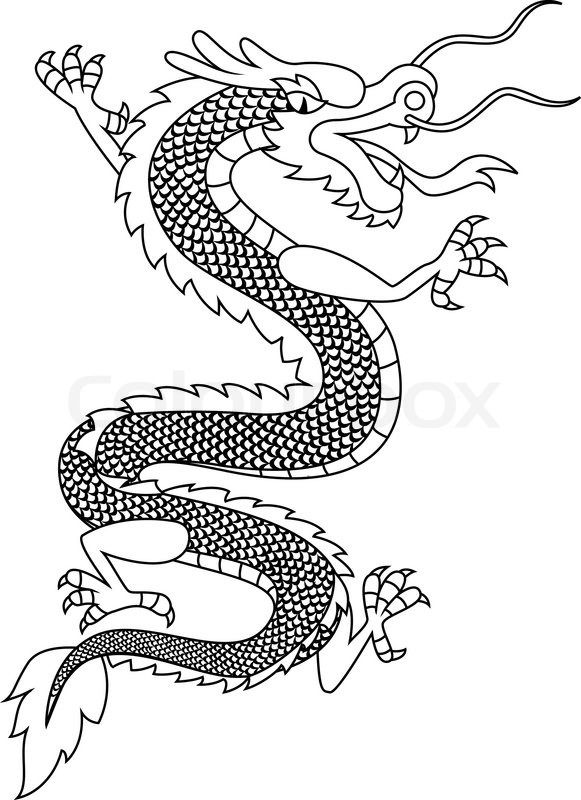 Chinese Dragon Head Pattern | Chinese dragon tattoo, vector ...