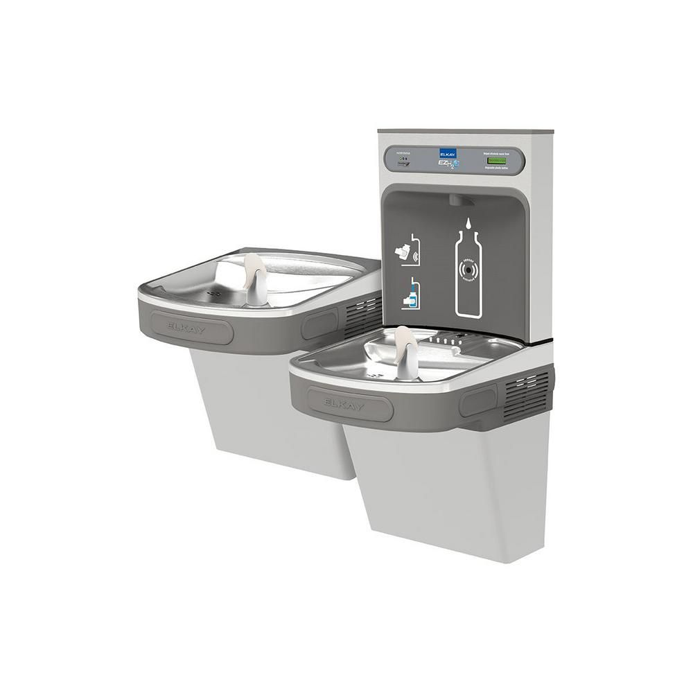 Filtered 8 Gph Ezh2o Ada Stainless Steel Silver Bi Level Drinking Fountain With Bottle Filling Station Filling Station Bottle Filter Bottle