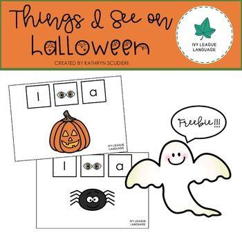 Halloween Vocabulary Things I See on Halloween FREEBIE Halloween