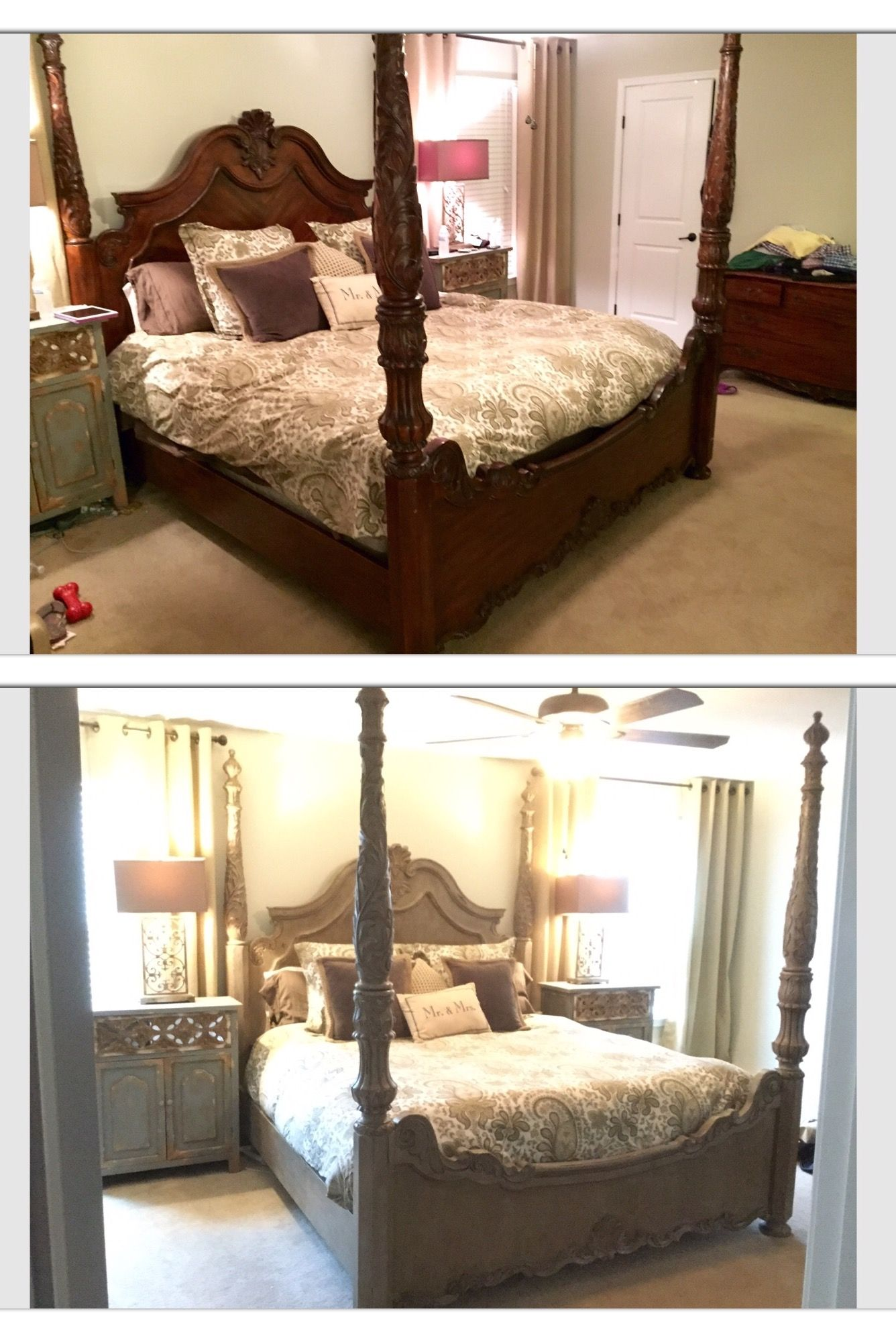 Poster King Bed Frame Redo Painted With Annie Sloan Chalk Paint