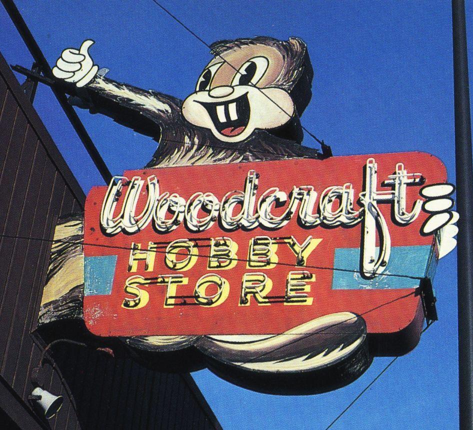 Woodcraft Hobby Store Minneapolis Minnesota Vintage Signs