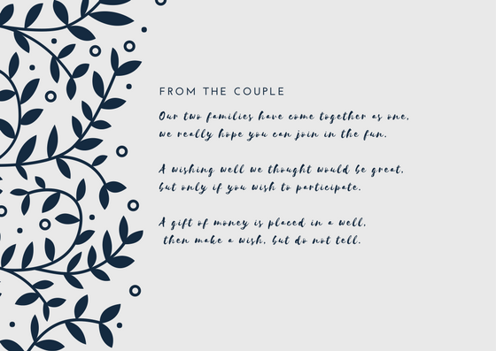 Wedding Invitation Wording Ideas With Poems: Wishing Well Wording That Won't Offend In 2019