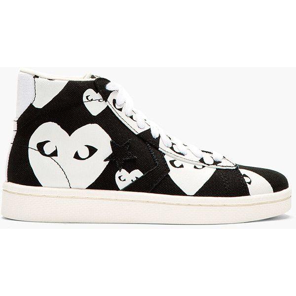 e4f35b24da6f3e Comme Des Garons Play Black Heart Print Converse Cons Edition High-Top  Sneakers ( 140) found on Polyvore