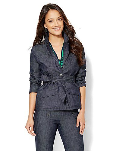 Shop 7th Avenue Design Studio - Belted Jacket - Grand Sapphire . Find your perfect size online at the best price at New York & Company.