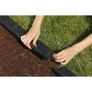 Rubberific Black Rubber Landscape Edging Section at Lowes