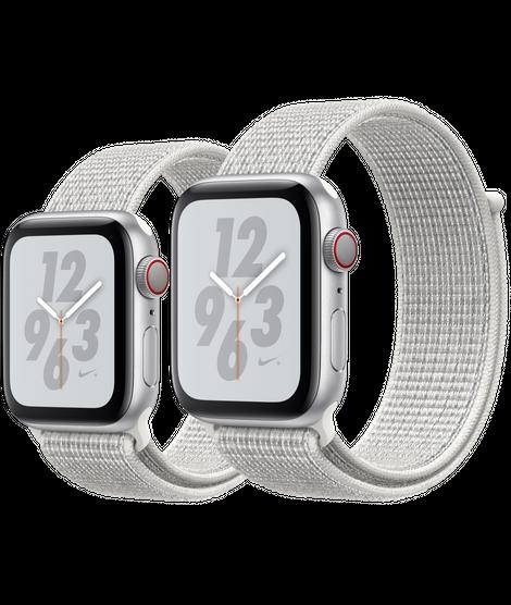 cola más lejos Inevitable  Apple Watch Nike+ Silver Aluminum Case with Summit White Nike Sport Loop -  40mm & 44mm #applewatchseries4   Apple watch nike, Buy apple watch, Apple  watch