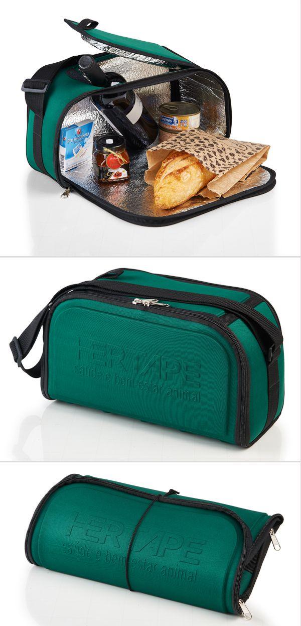 8d266f491 Bolsa térmica dobrável. Brinde promocional prático, compacto e fácil de ser  guardado no dia a dia.