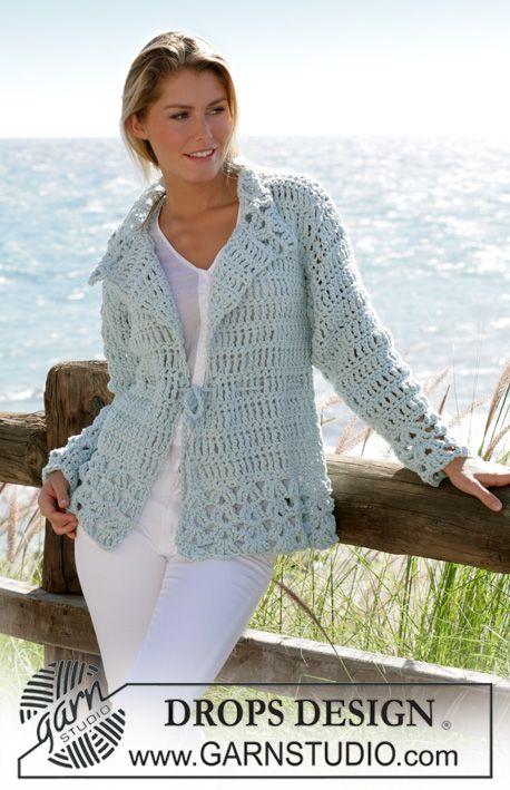 Pattern Drops Design Crochet Pinterest Free Crochet Jacket