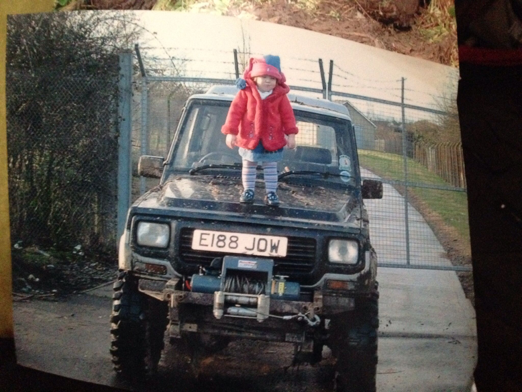 My 12 year old daughter she was about 3 ther . On my old diahatsu