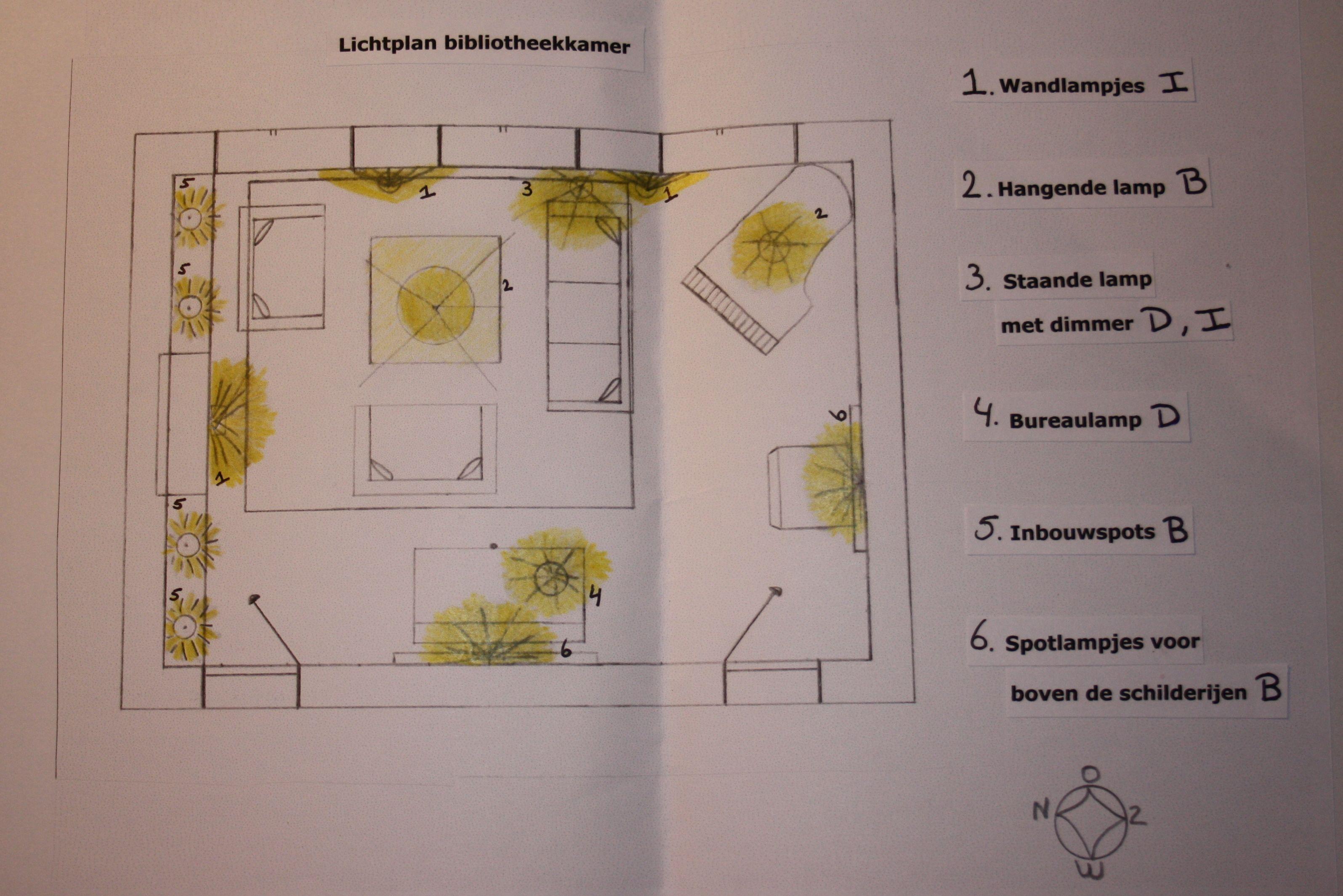 Voorbeeld Lichtplan Woonkamer : Eenvoudig lichtplan opdracht 9 interieurstyling interior