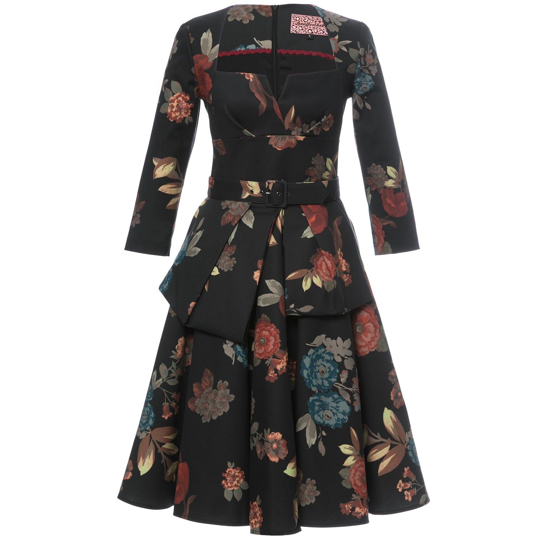 Kleid mit Blumenmuster Diva Lena Hoschek Online Shop My Style