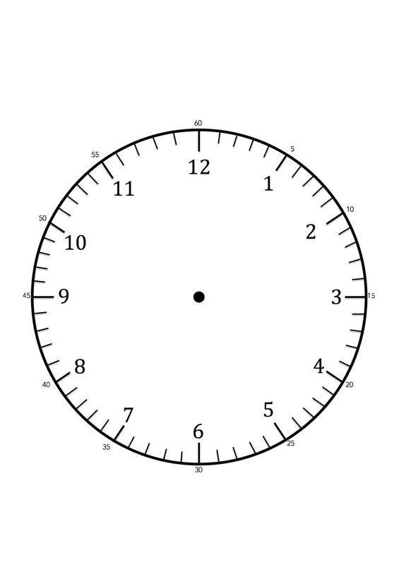 image regarding Free Printable Clock Template called No cost printable Clock confront template for studying towards inform the