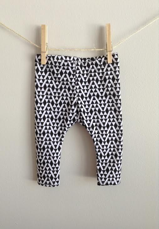 Geo Triangle Black and White Baby Leggings by KennedysCollections, $15.00