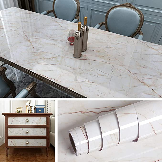 Livelynine Removable Wallpaper Kitchen Countertop Covers