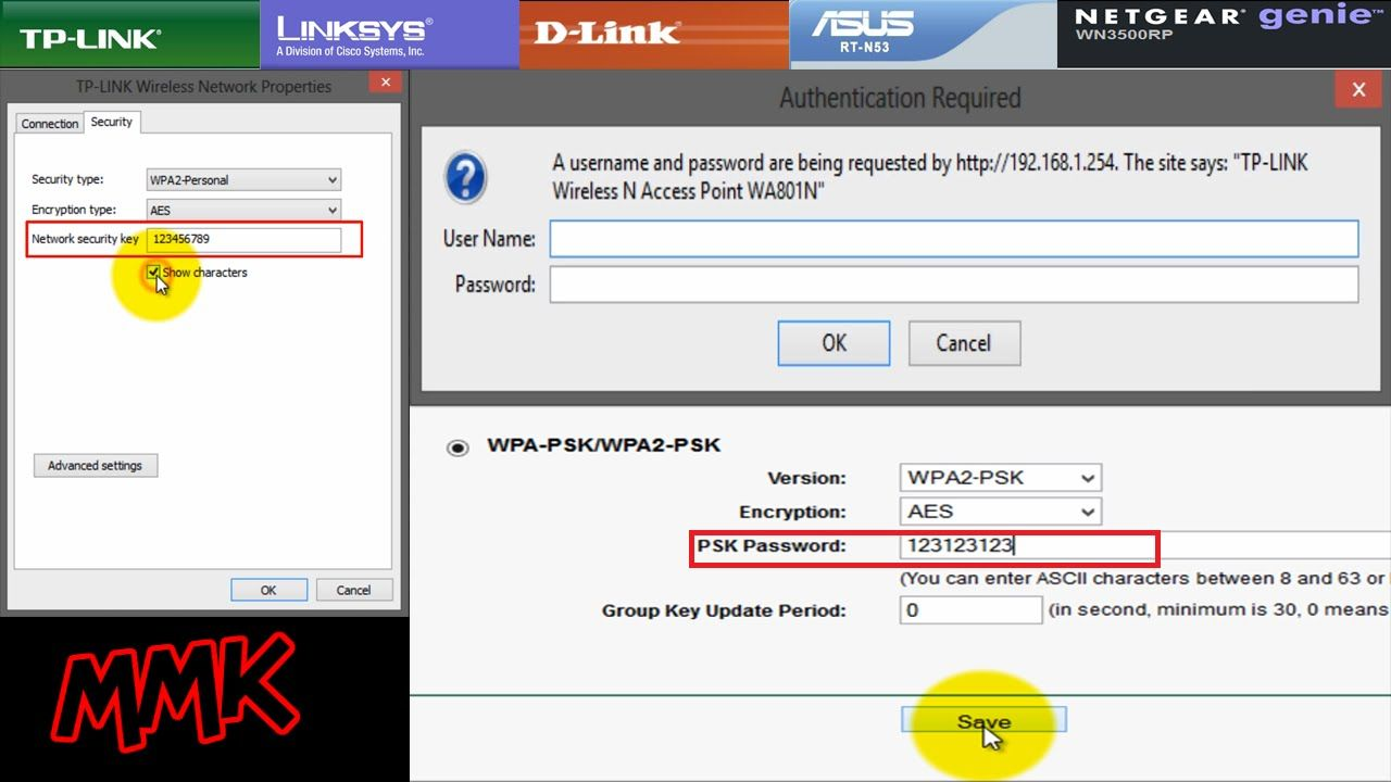 How to change wifi password on windows 7 8 and secure it