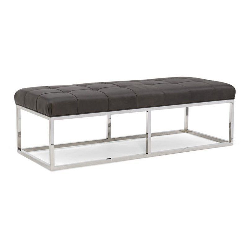 Hooker Furniture Brooklyn Bench Ottoman Dark Gray - SS904-BH-079