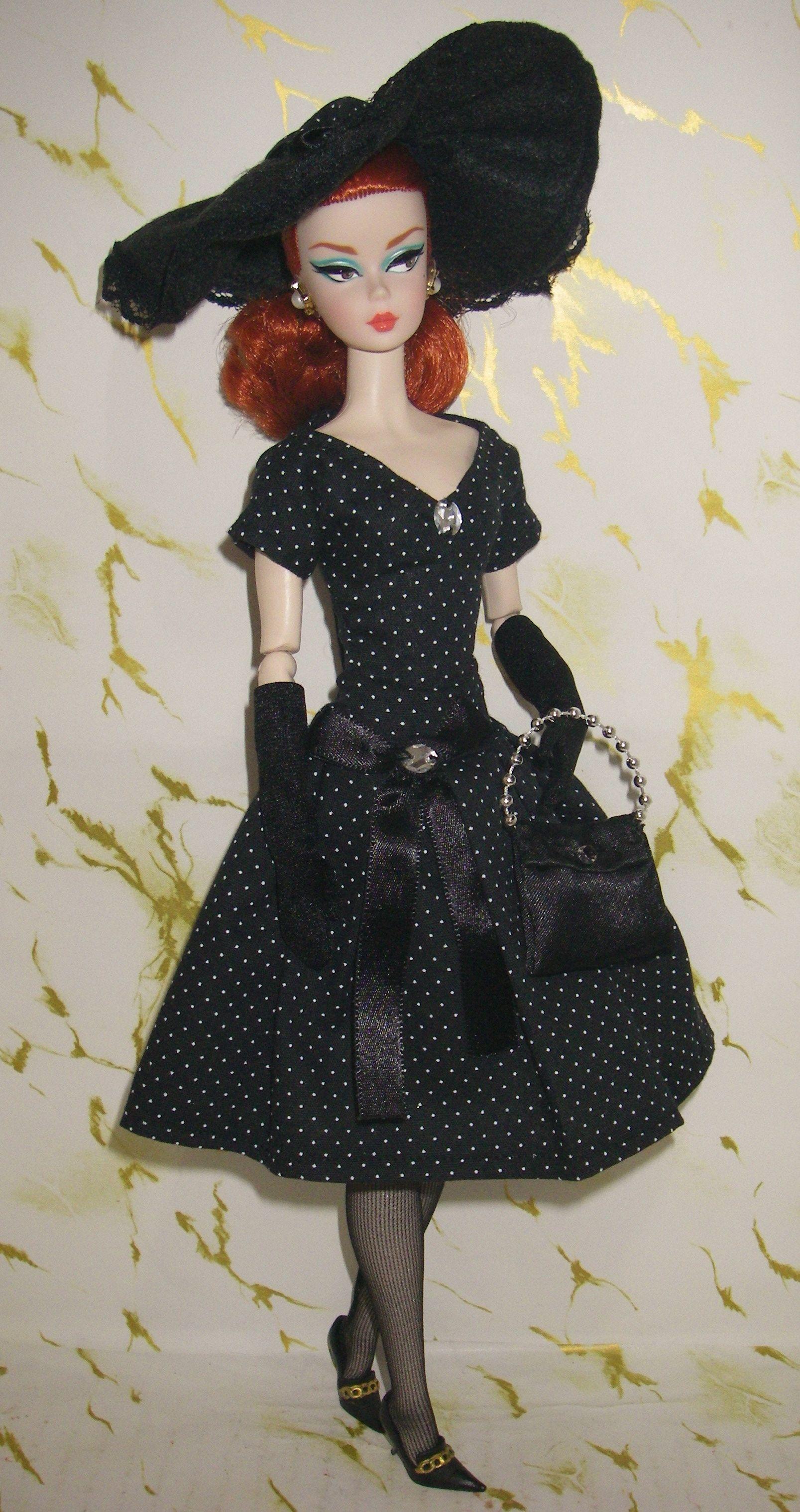 Silkstone Black White Tweed Suit Vintage Barbie Clothes Barbie Dolls Barbie Dress
