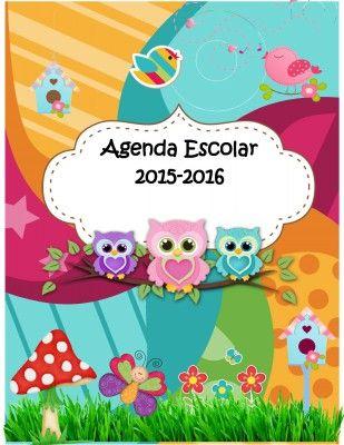Magnifica Agenda Curso 2015 2016 Motivo Buhos Materiales Para