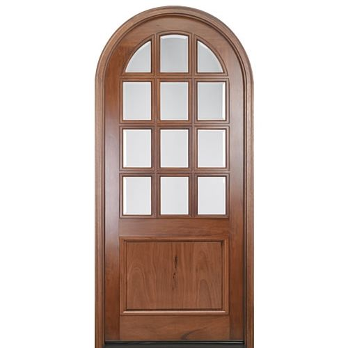 Mai Doors A758g 42rt Alpine Full Radius Top Rail 12 Lite Panel Bottom Door Walnut Doors Wood Doors Entry Doors