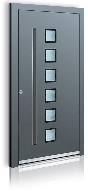 t ren trend 2014 haust ren mit griffmulde aluminium. Black Bedroom Furniture Sets. Home Design Ideas