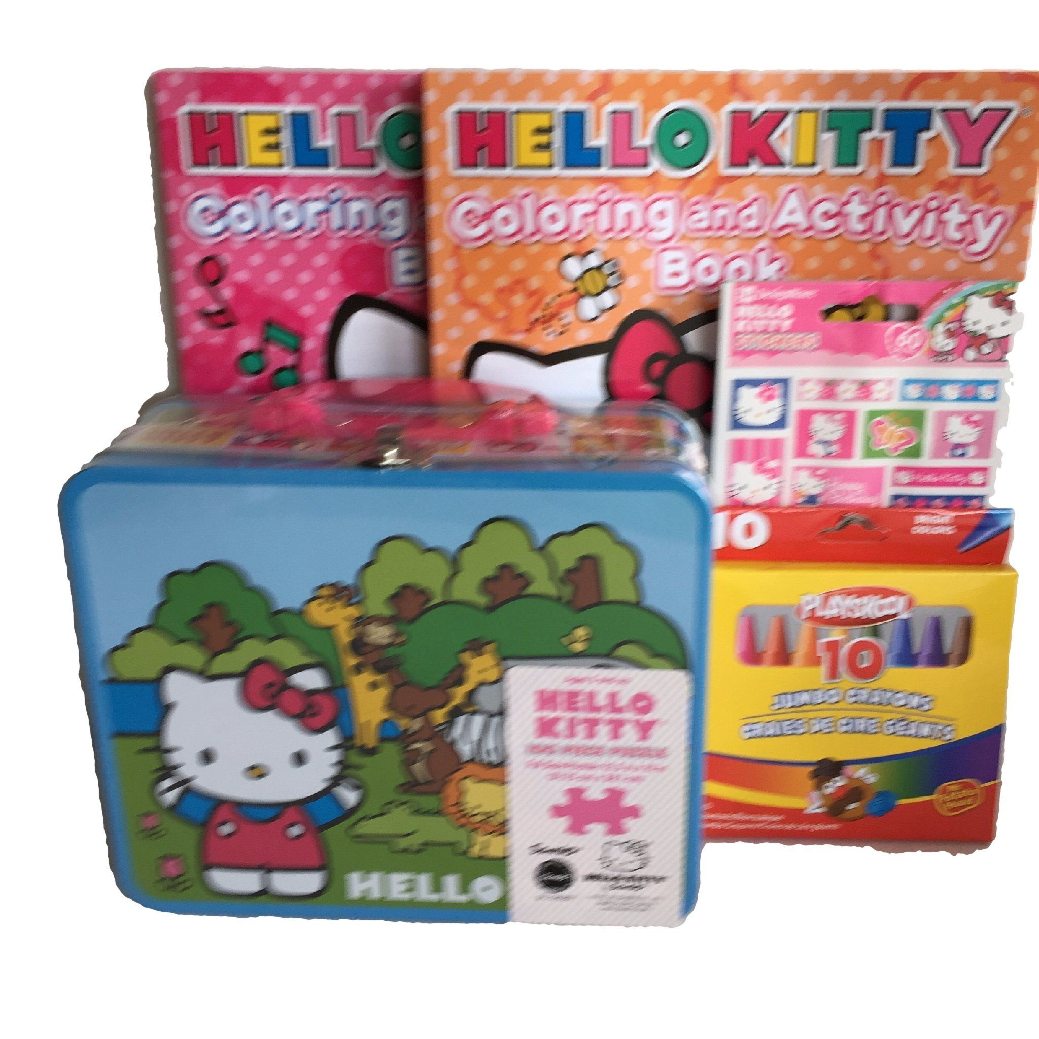 Gift set hello kitty 100 pc puzzle blue