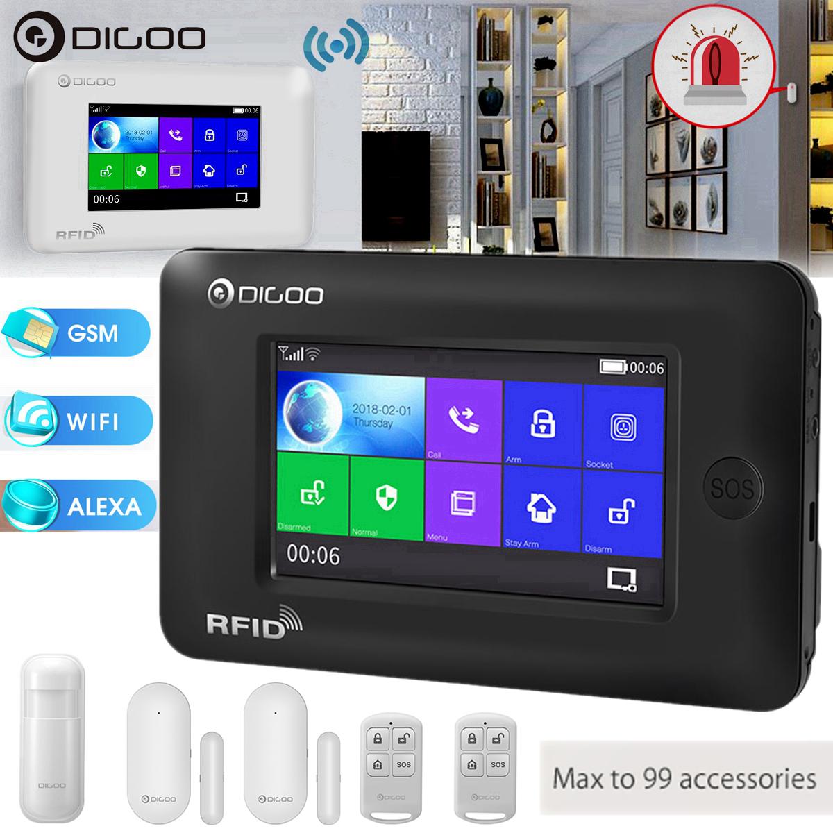 Digoo Hama Touch Screen Gsm Wifi Smart Home Burglar Security Alarm System Kit Https Uxs Home Security Alarm Home Security Alarm System Smart Home Security